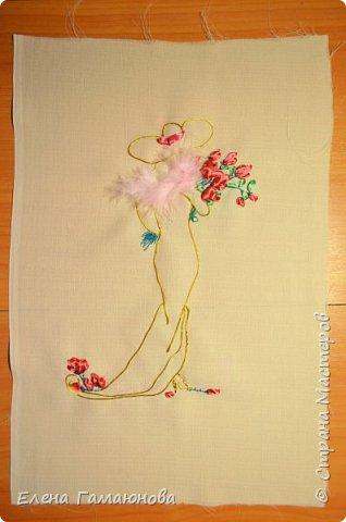 Текстильная Арома Открытка.Вышитые розочки ароматизированы маслом Английской розы.  фото 3
