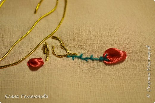 Текстильная Арома Открытка.Вышитые розочки ароматизированы маслом Английской розы.  фото 6