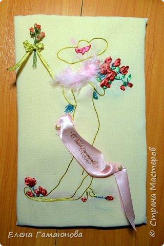 Текстильная Арома Открытка.Вышитые розочки ароматизированы маслом Английской розы.  фото 8