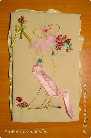 Текстильная Арома Открытка.Вышитые розочки ароматизированы маслом Английской розы.  фото 10