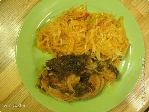Кулинария Мастер-класс Рецепт кулинарный Рыба тушенная с капустой в томатном соке Продукты пищевые фото 13