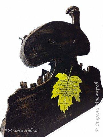 Мастер-класс Ассамбляж Лепка ЁЖкин дом Дерево Картон Клей Краска Материал бросовый Фанера фото 59