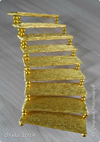 Мастер-класс Свит-дизайн День рождения Моделирование конструирование Лестница успеха и как я её делала  Бумага гофрированная фото 12