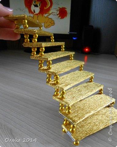 Мастер-класс Свит-дизайн День рождения Моделирование конструирование Лестница успеха и как я её делала  Бумага гофрированная фото 13