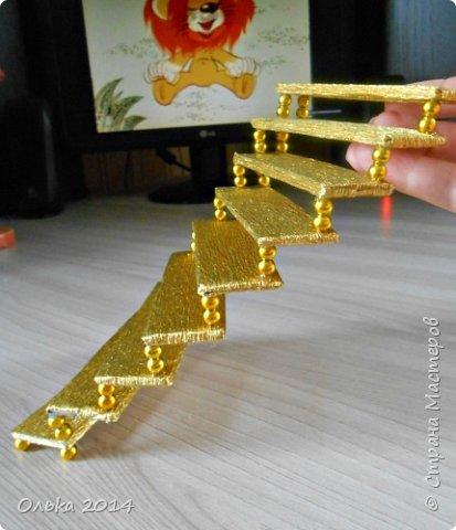 Мастер-класс Свит-дизайн День рождения Моделирование конструирование Лестница успеха и как я её делала  Бумага гофрированная фото 14