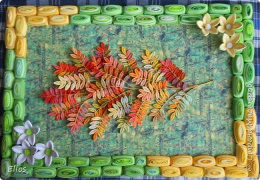 Добрый день, девушки. представляю на ваш суд очередную композицию: рябина на фоне леса. фото 4