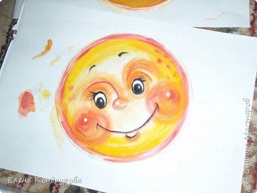 Картина панно рисунок Мастер-класс Роспись Шитьё   Мое СОЛНЫШКО  Краска Пряжа Ткань фото 5