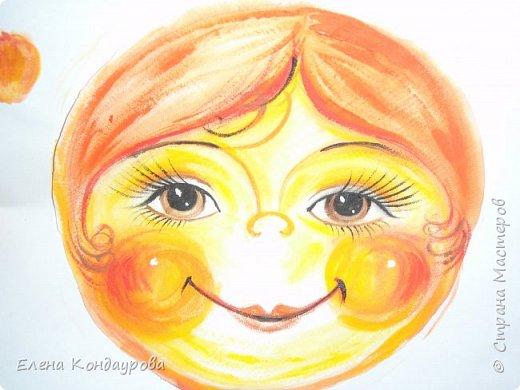 Картина панно рисунок Мастер-класс Роспись Шитьё   Мое СОЛНЫШКО  Краска Пряжа Ткань фото 7