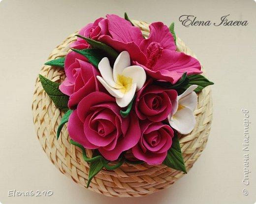Мастер-класс Флористика искусственная Лепка Шкатулка украшенная цветами из полимерной глины + небольшой мк Глина фото 21