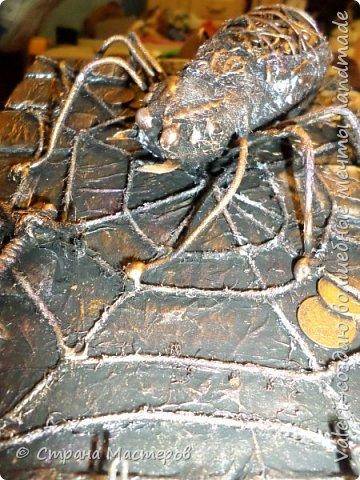 ДРУЗЬЯ, привет!!! Создала три новых работы, хочу поделиться с Вами!  Сразу предупреждаю, фоток как всегда много, так что, будте готовы)) Первая: ключница-черепаха, встречала разнообразных черепашек у нас в Стране, дам ссылочки на некоторые, особо понравившиеся: https://stranamasterov.ru/node/649516#photo1 https://stranamasterov.ru/node/566948?c=favorite https://stranamasterov.ru/node/787452#photo1 https://stranamasterov.ru/node/720990#photo1 https://stranamasterov.ru/node/574214#photo1 это далеко не все конечно же, а сколько их других, не на панношках...мммм, красотулички: https://stranamasterov.ru/node/510781 https://stranamasterov.ru/node/674402#photo1 https://stranamasterov.ru/node/148673 https://stranamasterov.ru/node/714504 https://stranamasterov.ru/node/233300#photo1 https://stranamasterov.ru/node/445879#photo1 и это, понятно, тоже лишь капля в море фантазии наших Мастеров! Спасибо девочкам-вдохновительницам!!! Знаете, как иногда что то увиденное западает в душу и покоя не даёт, пока не сделаешь подобную штучку))) Но, естественно, хотелось свою, не повторимую и не похожую на других, оформление делала так же как в рыбке(https://stranamasterov.ru/node/815681), вот, принимайте, моя(пока) красотулька драгоценная и полезная Паст(как говорит моя младшенькая):  фото 24