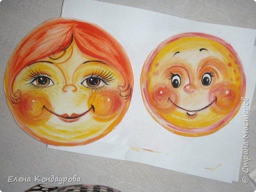 Картина панно рисунок Мастер-класс Роспись Шитьё   Мое СОЛНЫШКО  Краска Пряжа Ткань фото 11