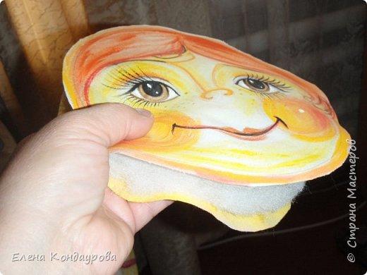 Картина панно рисунок Мастер-класс Роспись Шитьё   Мое СОЛНЫШКО  Краска Пряжа Ткань фото 13