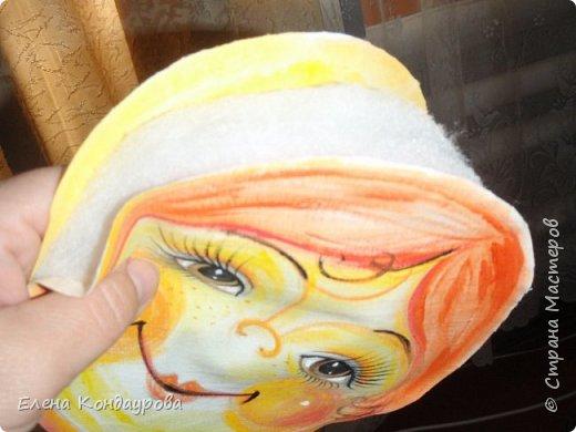Картина панно рисунок Мастер-класс Роспись Шитьё   Мое СОЛНЫШКО  Краска Пряжа Ткань фото 14