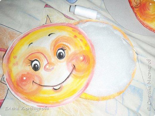 Картина панно рисунок Мастер-класс Роспись Шитьё   Мое СОЛНЫШКО  Краска Пряжа Ткань фото 18