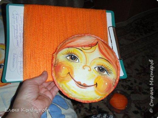 Картина панно рисунок Мастер-класс Роспись Шитьё   Мое СОЛНЫШКО  Краска Пряжа Ткань фото 24