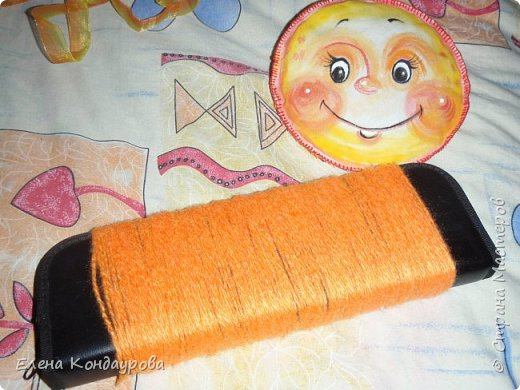 Картина панно рисунок Мастер-класс Роспись Шитьё   Мое СОЛНЫШКО  Краска Пряжа Ткань фото 36