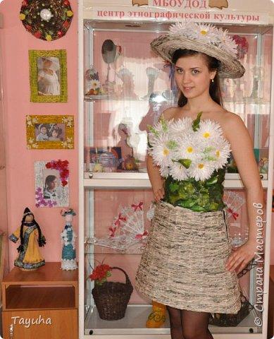 Платье из газетных трубочек своими руками инструкция