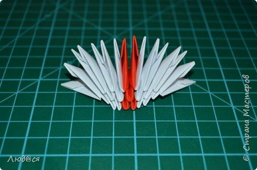 Картина панно рисунок Мастер-класс Оригами китайское модульное Божья коровка или сонечко-жучок Бумага Клей фото 5