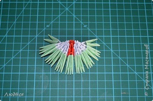 Картина панно рисунок Мастер-класс Оригами китайское модульное Божья коровка или сонечко-жучок Бумага Клей фото 11