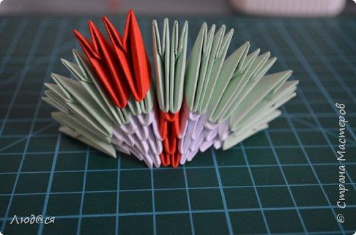 Картина панно рисунок Мастер-класс Оригами китайское модульное Божья коровка или сонечко-жучок Бумага Клей фото 12