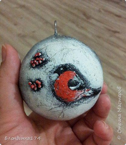 Привет, дорогая Страна!!! Я уже начинаю, потихоньку, готовится к Новому году:))) Сделала вот такой шарик на елочку, домашним очень понравился.....Теперь хочу поделиться с вами!!!  фото 16