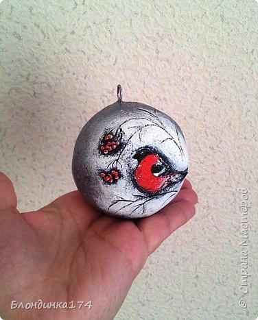 Привет, дорогая Страна!!! Я уже начинаю, потихоньку, готовится к Новому году:))) Сделала вот такой шарик на елочку, домашним очень понравился.....Теперь хочу поделиться с вами!!!  фото 18