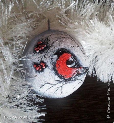 Привет, дорогая Страна!!! Я уже начинаю, потихоньку, готовится к Новому году:))) Сделала вот такой шарик на елочку, домашним очень понравился.....Теперь хочу поделиться с вами!!!  фото 2