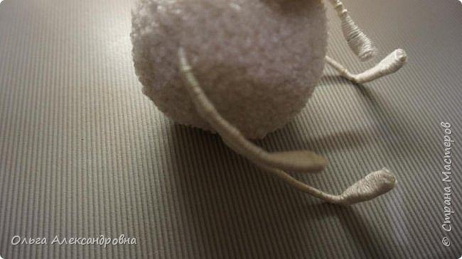 Мастер-класс Поделка изделие Новый год Вязание крючком Гламурная овечка описание Нитки Проволока Пряжа фото 18