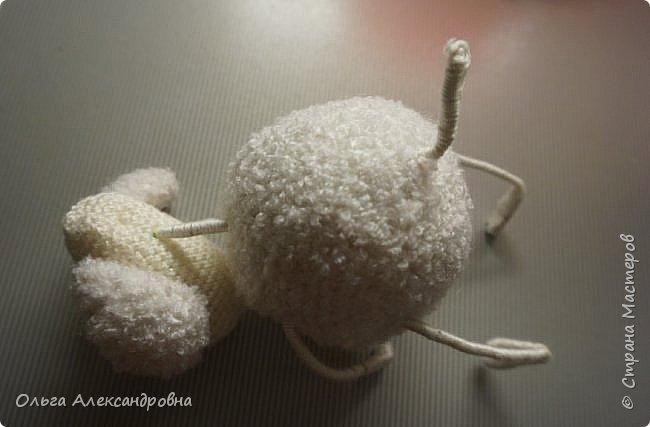 Мастер-класс Поделка изделие Новый год Вязание крючком Гламурная овечка описание Нитки Проволока Пряжа фото 19