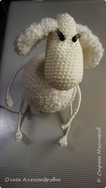 Мастер-класс Поделка изделие Новый год Вязание крючком Гламурная овечка описание Нитки Проволока Пряжа фото 11