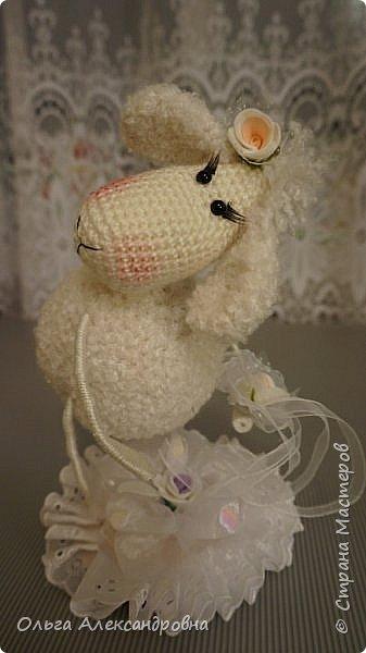 Мастер-класс Поделка изделие Новый год Вязание крючком Гламурная овечка описание Нитки Проволока Пряжа фото 3