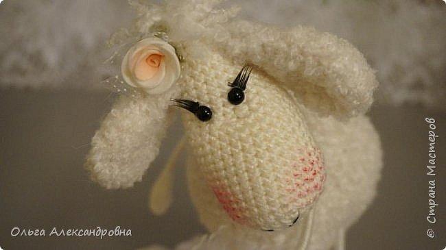 Мастер-класс Поделка изделие Новый год Вязание крючком Гламурная овечка описание Нитки Проволока Пряжа фото 22