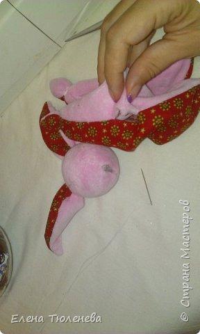 Куклы Мастер-класс День рождения Шитьё зайка комфортер Ленты Ткань фото 16