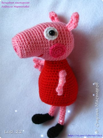 Игрушка Вязание крючком Свинка