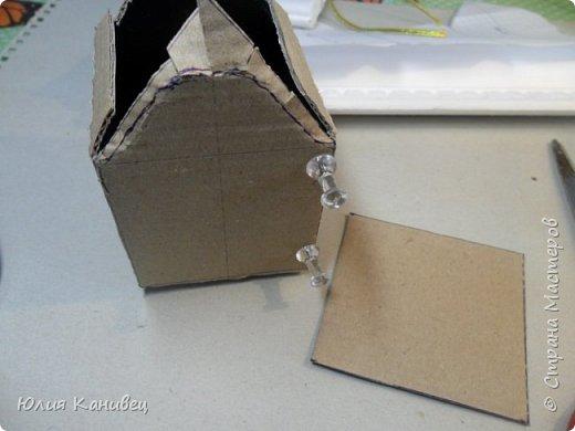 Мастер-класс Поделка изделие Новый год Моделирование конструирование Новогодние домики Картон фото 9