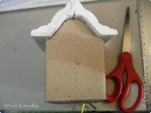 Мастер-класс Поделка изделие Новый год Моделирование конструирование Новогодние домики Картон фото 10
