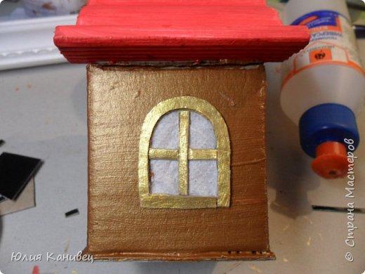 Мастер-класс Поделка изделие Новый год Моделирование конструирование Новогодние домики Картон фото 15