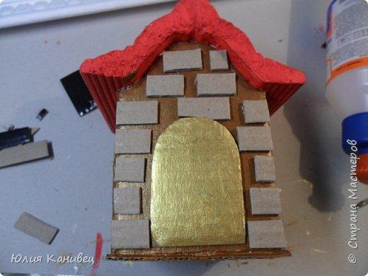 Мастер-класс Поделка изделие Новый год Моделирование конструирование Новогодние домики Картон фото 16