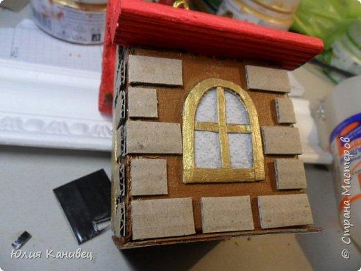 Мастер-класс Поделка изделие Новый год Моделирование конструирование Новогодние домики Картон фото 17