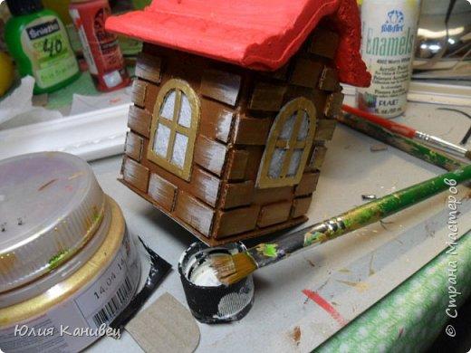 Мастер-класс Поделка изделие Новый год Моделирование конструирование Новогодние домики Картон фото 19