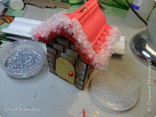 Мастер-класс Поделка изделие Новый год Моделирование конструирование Новогодние домики Картон фото 21