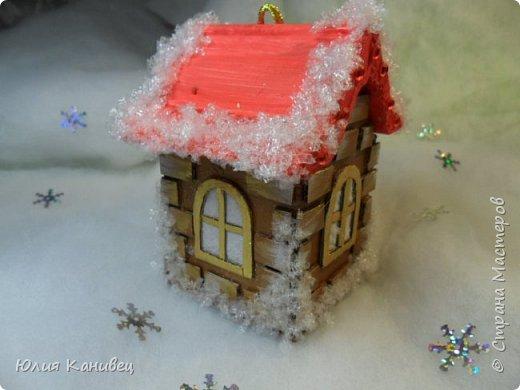 Мастер-класс Поделка изделие Новый год Моделирование конструирование Новогодние домики Картон фото 22