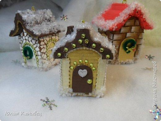 Мастер-класс Поделка изделие Новый год Моделирование конструирование Новогодние домики Картон фото 24