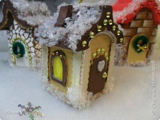 Мастер-класс Поделка изделие Новый год Моделирование конструирование Новогодние домики Картон фото 25