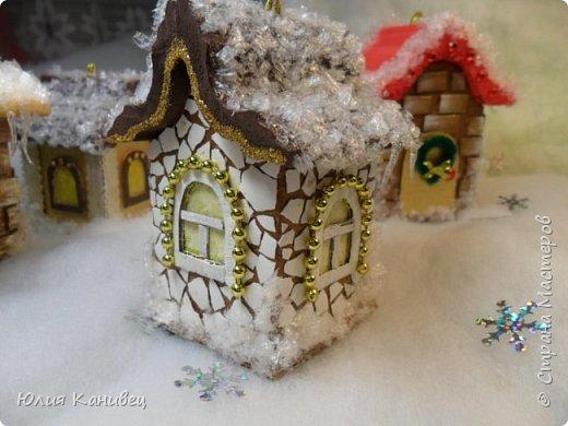 Мастер-класс Поделка изделие Новый год Моделирование конструирование Новогодние домики Картон фото 26