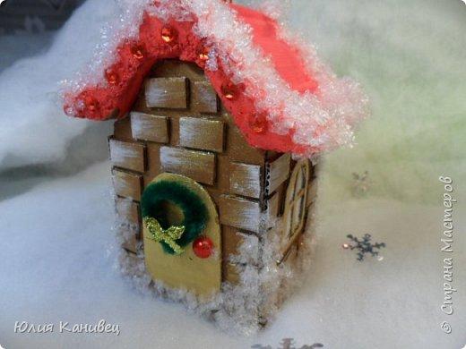 Мастер-класс Поделка изделие Новый год Моделирование конструирование Новогодние домики Картон фото 23