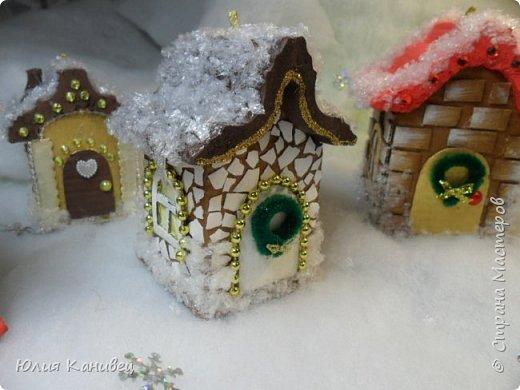 Мастер-класс Поделка изделие Новый год Моделирование конструирование Новогодние домики Картон фото 27