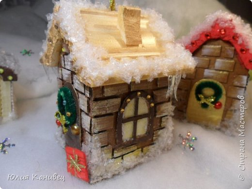Мастер-класс Поделка изделие Новый год Моделирование конструирование Новогодние домики Картон фото 28