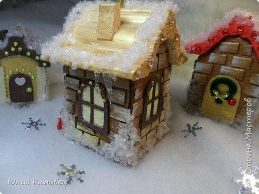 Мастер-класс Поделка изделие Новый год Моделирование конструирование Новогодние домики Картон фото 29