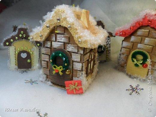 Мастер-класс Поделка изделие Новый год Моделирование конструирование Новогодние домики Картон фото 30